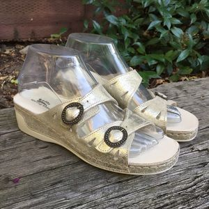 Spring Step Italian Wedge Sandals size 8 / 38